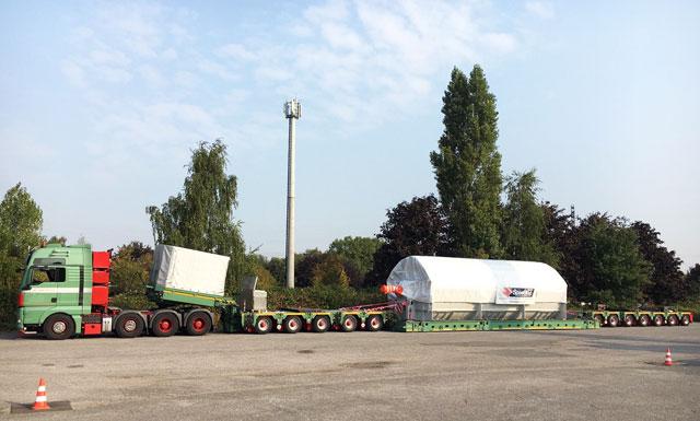 Speedlog befördert einen trockner nach holland speedlog