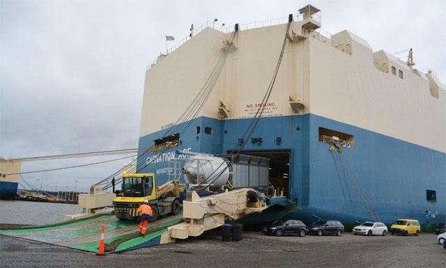 Speedlog transportiert Asphaltmischanlage nach Neuseeland