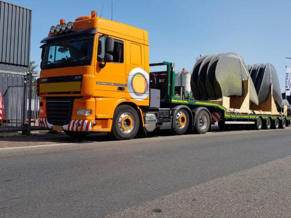 Speedlog transporta piezas de ventiladores industriales desde los Países Bajos hasta España